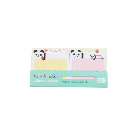 Memo bloc notes repositionnables kawaii pandas