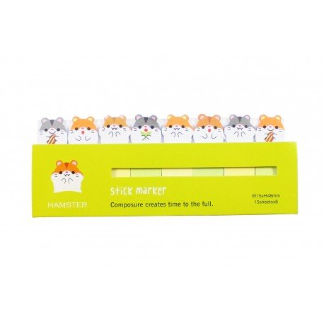 Mini notes marques pages repositionnables kawaii Animaux Hamster