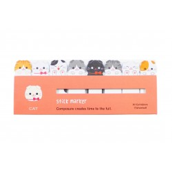 Mini notes marques pages repositionnables kawaii Animaux Chat