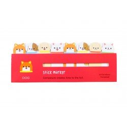 Mini notes marques pages repositionnables kawaii Animaux Chien