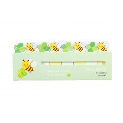 Mini notes marques pages repositionnables kawaii abeille et trèfles à quatre feuilles