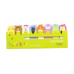 Mini notes marques pages repositionnables kawaii Birds Piupiu