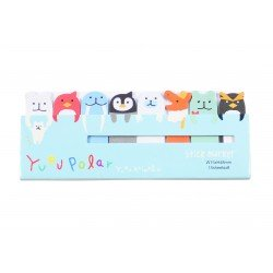 Mini notes marques pages repositionnables kawaii Polar animaux