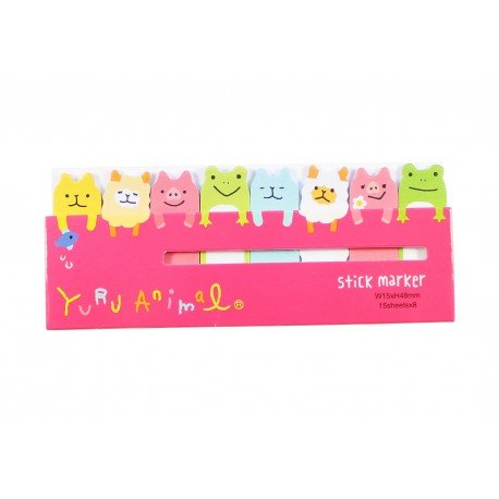 Mini notes marques pages repositionnables kawaii animaux