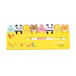 Mini notes marques pages repositionnables animaux mignon
