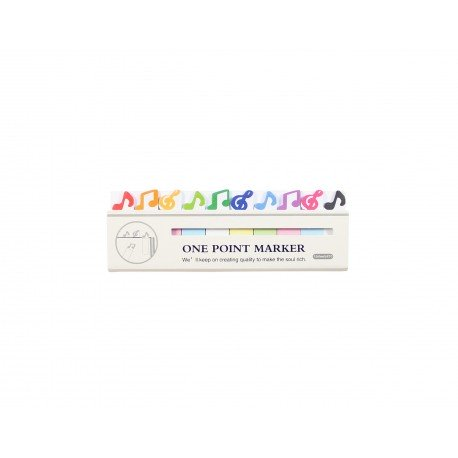 Mini index marques pages repositionnables kawaii note de musique