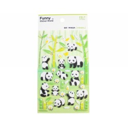 Sticker - Panda et bambou