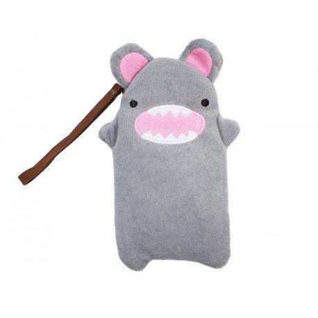 Trousse Peluche kawaii Petit monstre gris