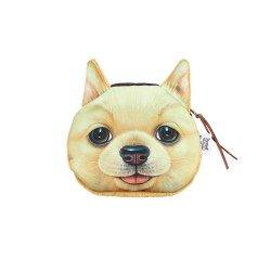 Porte monnaie chien jaune