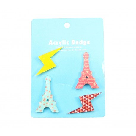 Badge kawaii Paris 1