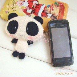 Breloque Strap téléphone kawaii peluche mini Panda