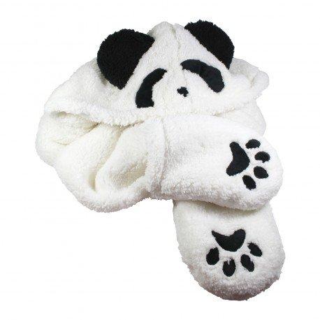 Bonnet écharpe gant 3 en 1 Panda kawaii