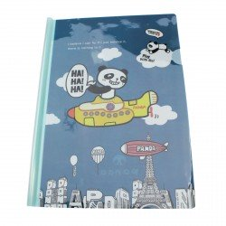 Chemise documents A4 kawaii panda en avion