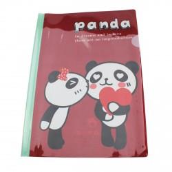Chemise documents A4 kawaii panda amoureux