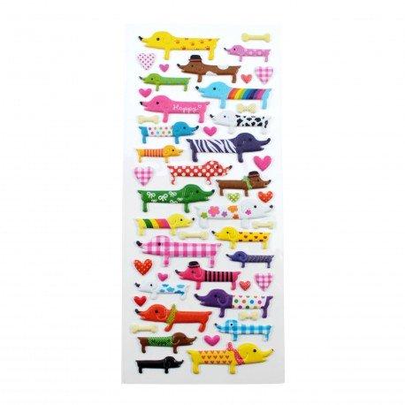 Sticker - Chiens multicouleurs