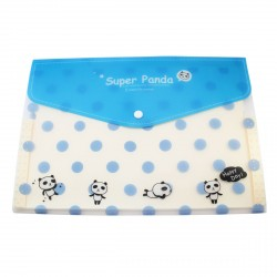 Protège documents A4 Super Panda petits pois bleus ciel