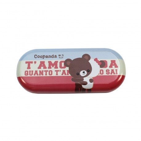 Boîte de lunettes kawaii Coo Panda beige