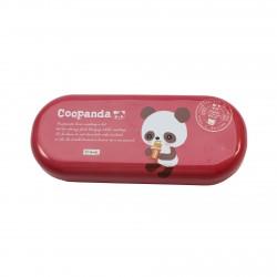 Boîte de lunettes kawaii Coo Panda rouge