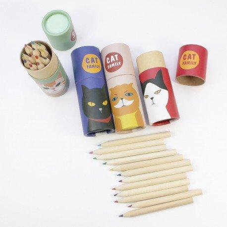 Kit 12 minis crayons de couleur