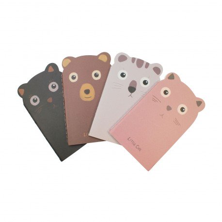 Carnet kawaii - Animal mignon gris