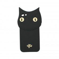 Coque étui téléphone souple pour iphone 5-5s Chat noir