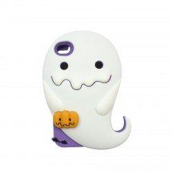 Coque étui téléphone phosphorescente petit fantome kawaii iphone 4 et 4s