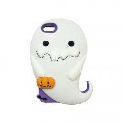 Coque étui téléphone phosphorescente petit fantome kawaii iphone 5-5s-SE
