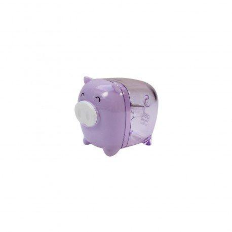 Taille crayon kawaii - Petit cochon mauve