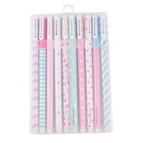 Kit 10 stylos à encre gel couleurs