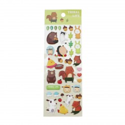 Sticker 3D kawaii Petit écureuil