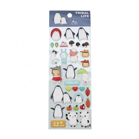Sticker 3D kawaii Petit pingouin