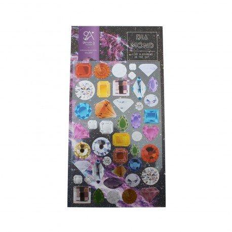 Sticker plat - pierres précieuses
