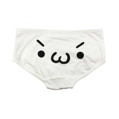 Petite culotte emoji kawaii blanc