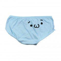 Petite culotte emoji kawaii bleu