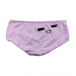 Petite culotte emoji kawaii violet