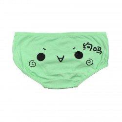 Petite culotte emoji kawaii vert