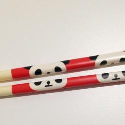 Baguettes kawaii tête de Panda mignon rouge