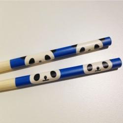 Baguettes kawaii tête de Panda mignon bleu