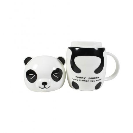 Tasse panda kawaii avec couvercle