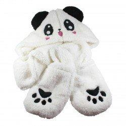 Bonnet écharpe gant 3 en 1 Panda kawaii manga