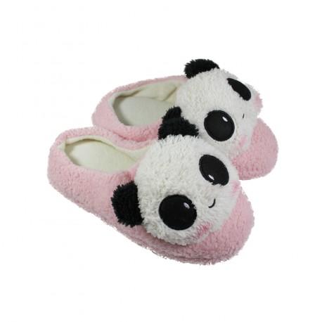 haute couture texture nette prix le plus bas Chausson pantoufle kawaii Panda rose