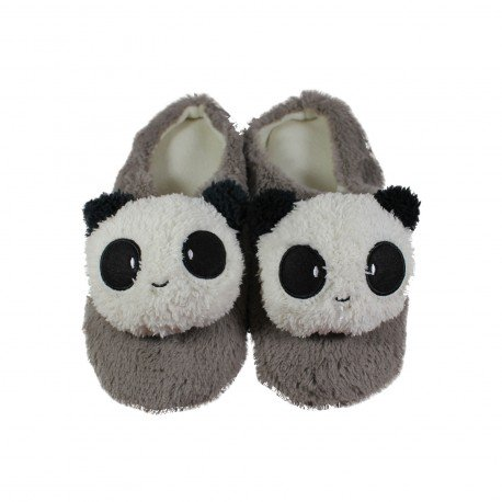 Chausson pantoufle kawaii Panda gris