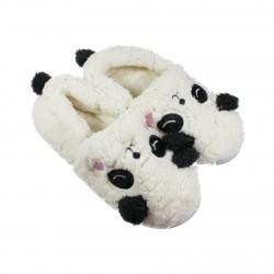 Chausson pantoufle kawaii Panda blanc creme