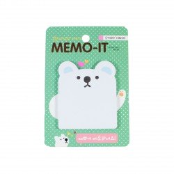 Memo repositionnable Ours blanc