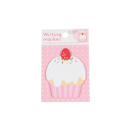 Memo repositionnable cupcake et fraise