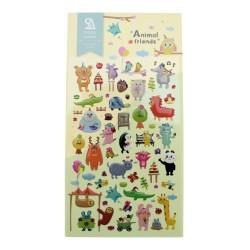 Sticker - Zoo avec des animaux kawaii