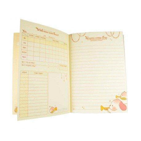Agenda planner planificateur sans date kawaii Peach Dog 1