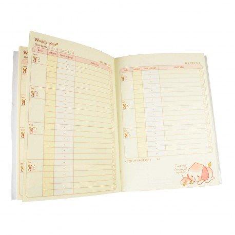 Agenda planner planificateur sans date kawaii Peach Dog 2