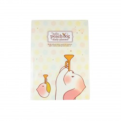 Agenda planner planificateur sans date kawaii Peach Dog 3