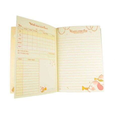Agenda planner planificateur sans date kawaii Peach Dog 3